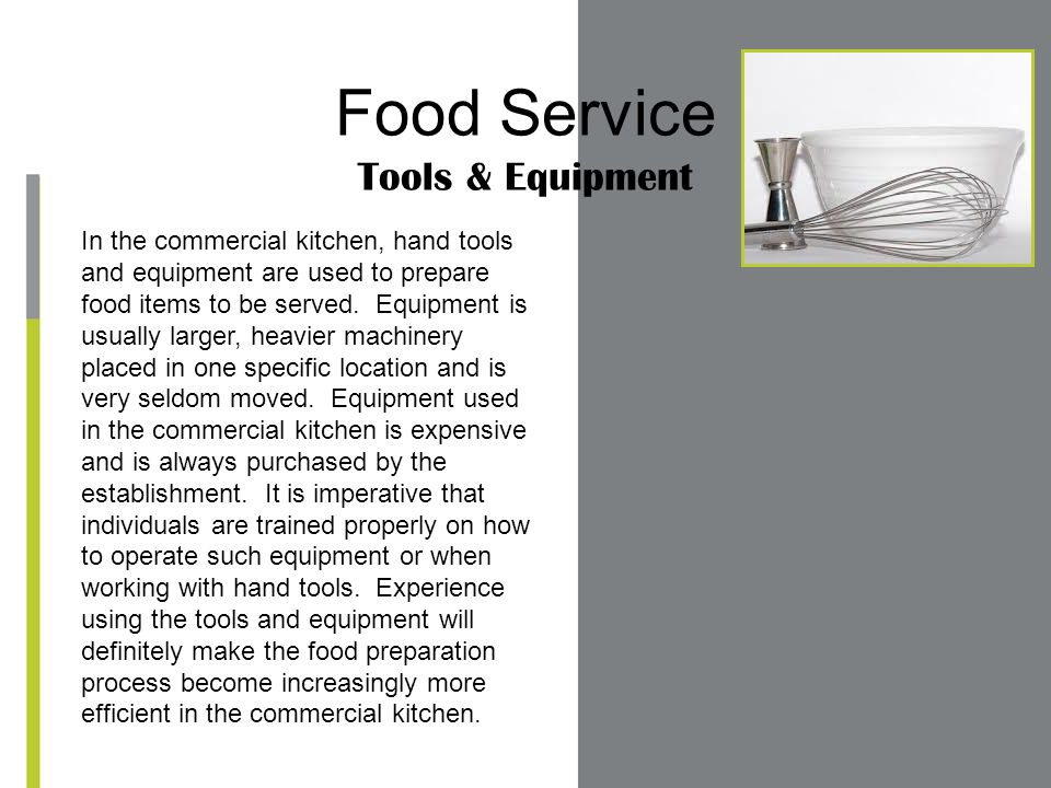 Food Service Tools & Equipment - ppt video online download