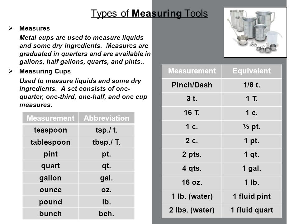 Types Of Measuring Devices : Food service tools equipment ppt video online download