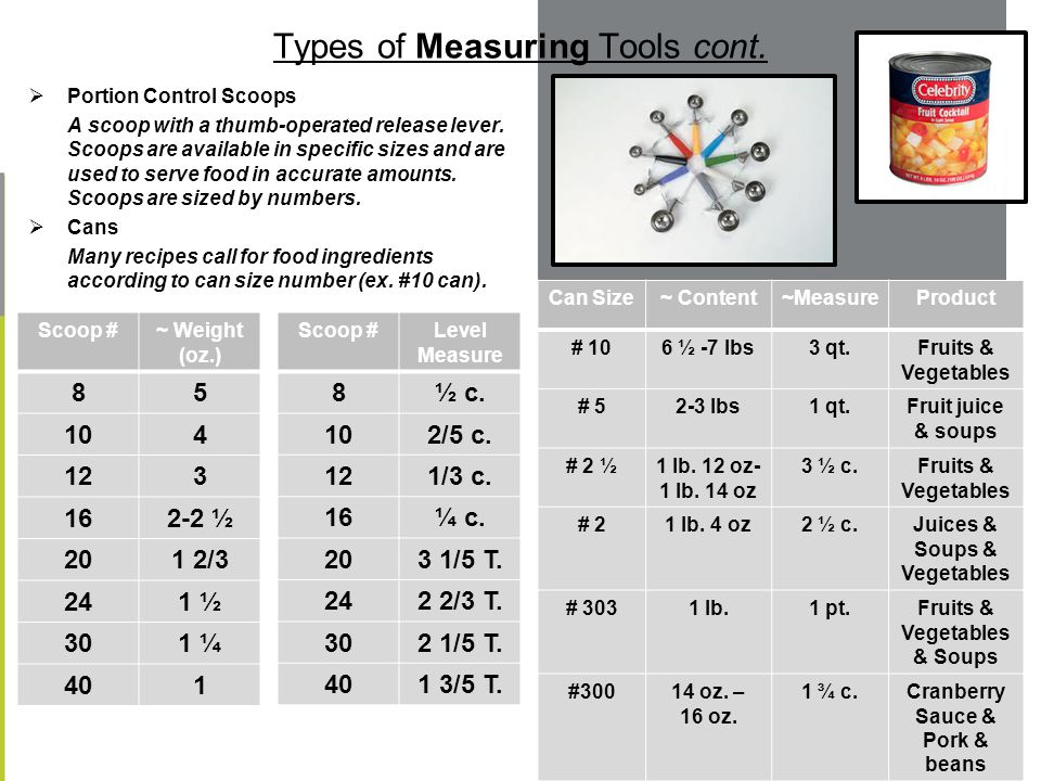 Types Of Measuring Instruments : Food service tools equipment ppt video online download