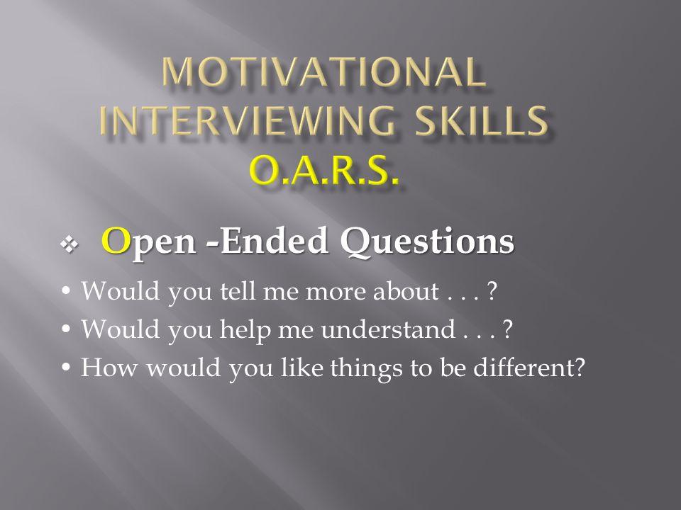 oars motivational interviewing