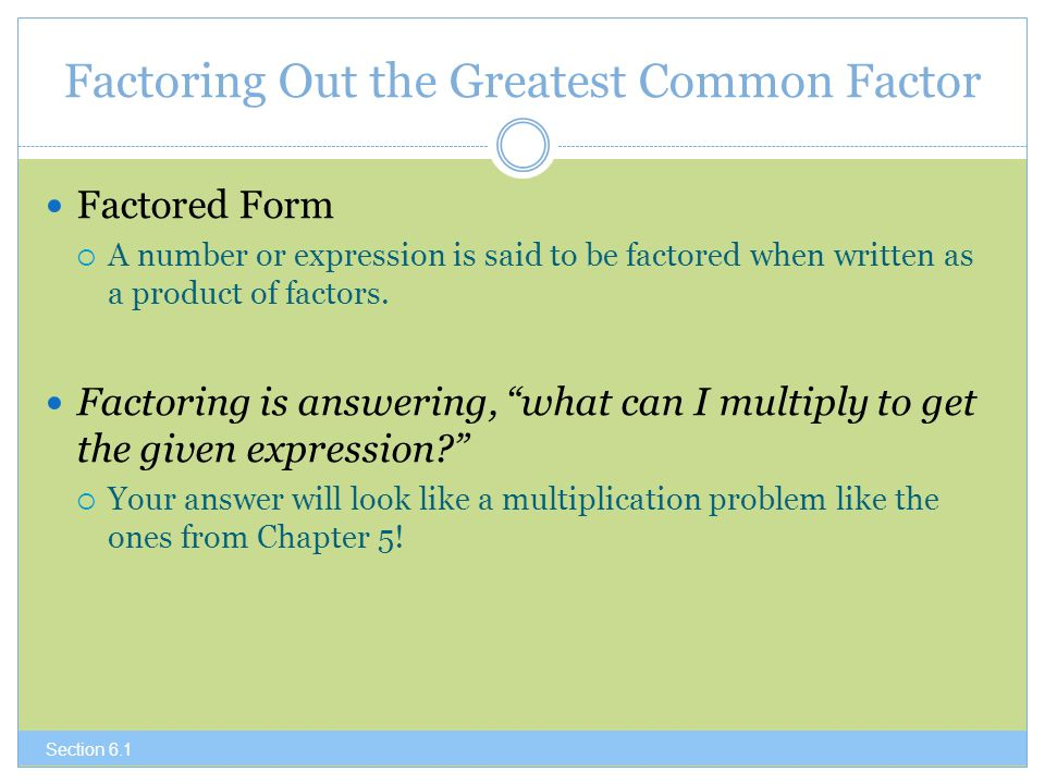 how to get factored form
