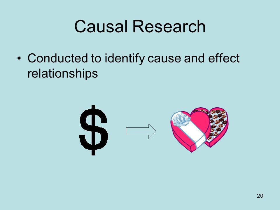 cause and effect relationship in research