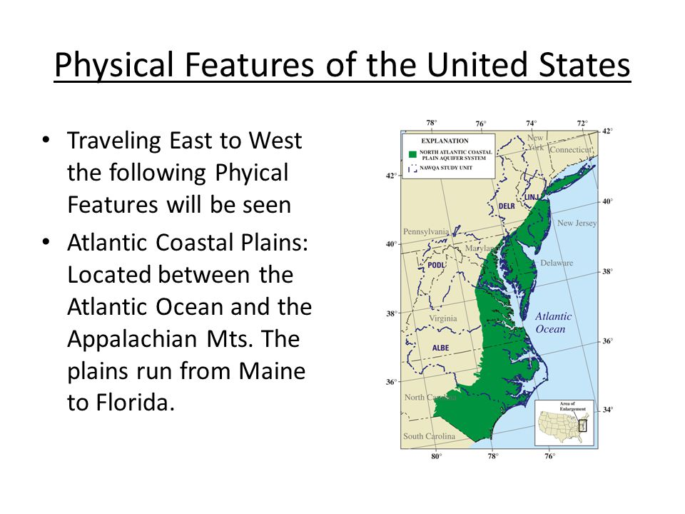 Geography Of United States Ppt Video Online Download - Physical features in the united states