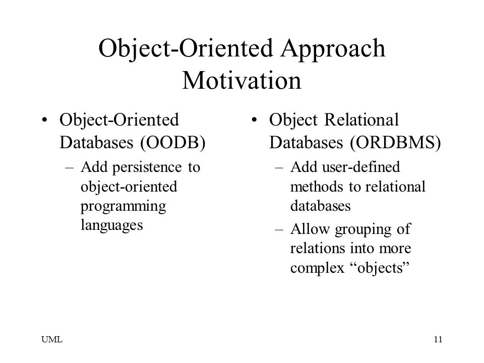 Object-Oriented Approach Motivation