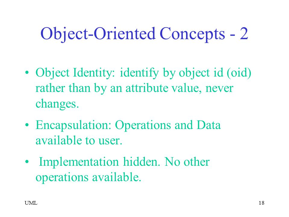 Object-Oriented Concepts - 2