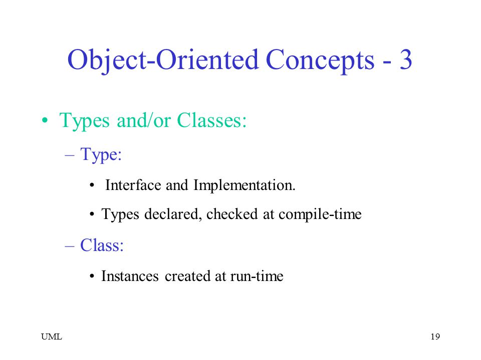 Object-Oriented Concepts - 3