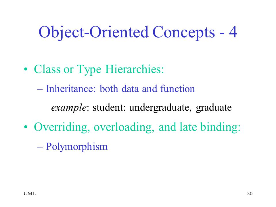 Object-Oriented Concepts - 4