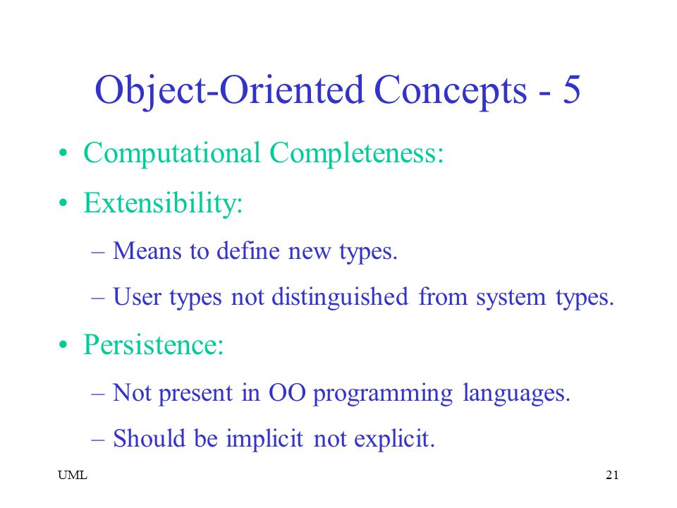 Object-Oriented Concepts - 5