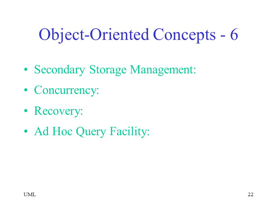 Object-Oriented Concepts - 6