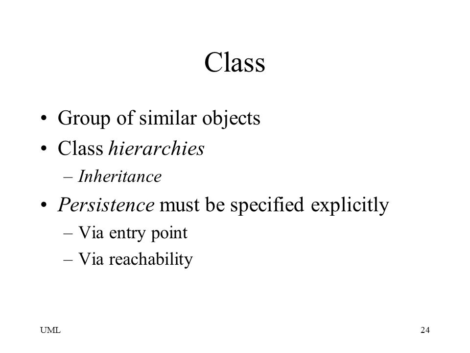 Class Group of similar objects Class hierarchies