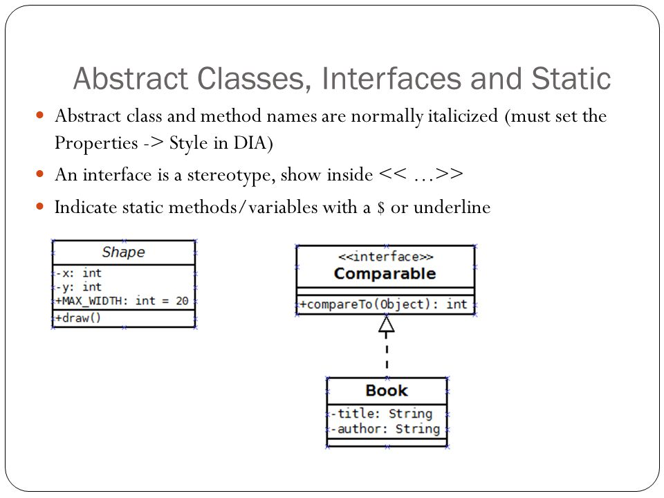 Abstract Classes, Interfaces and Static