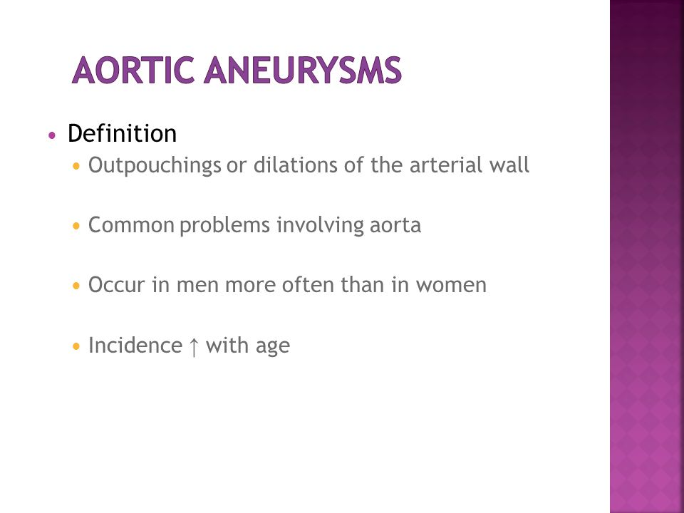 aortic aneurysm. - ppt video online download, Human Body
