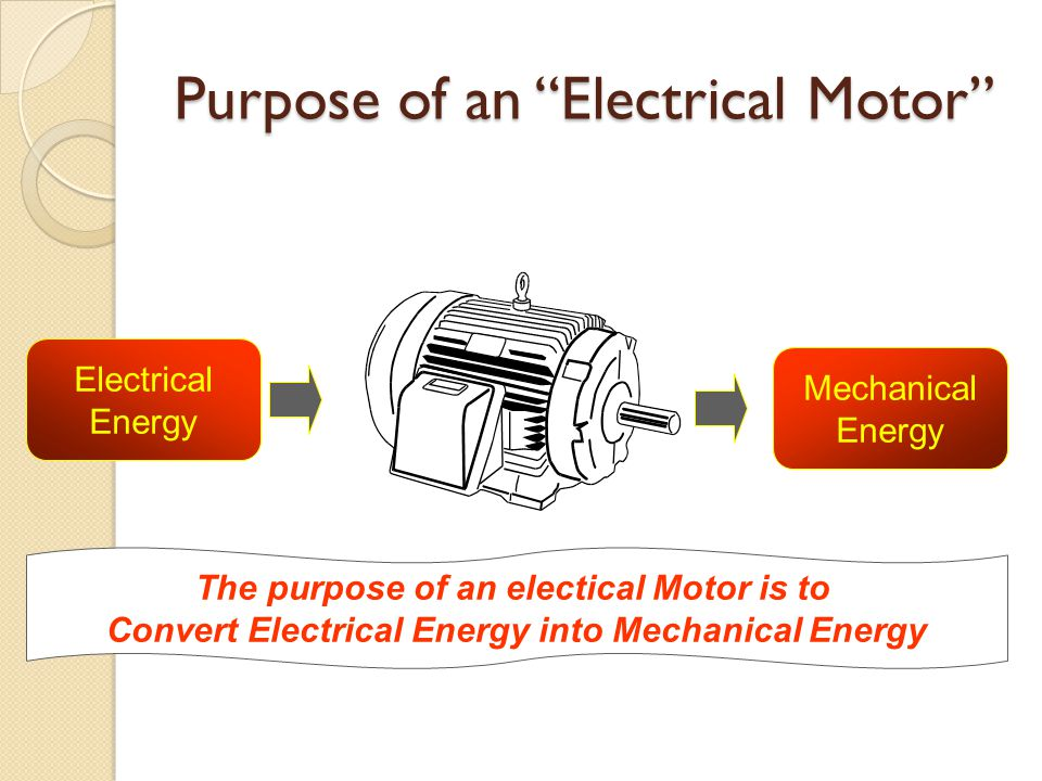 Purpose of an Electrical Motor