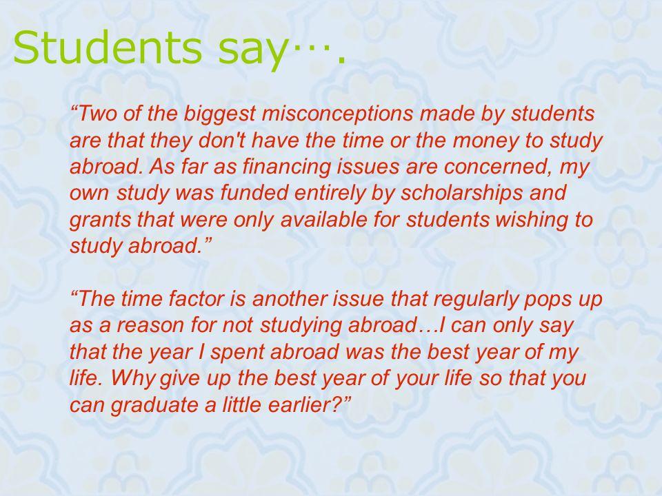 Students say….