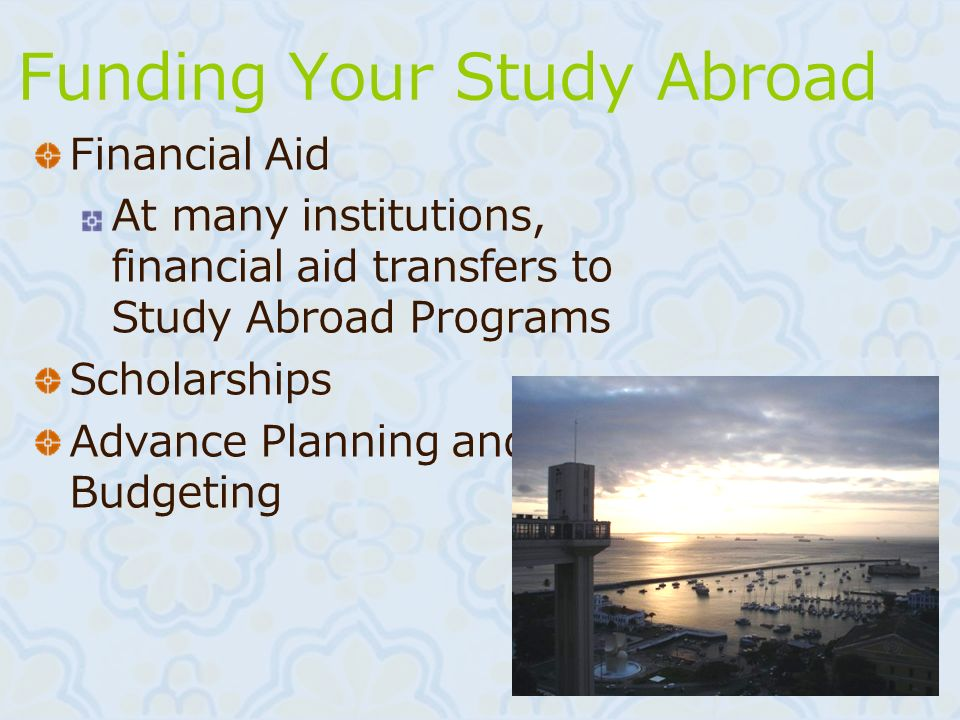 Funding Your Study Abroad