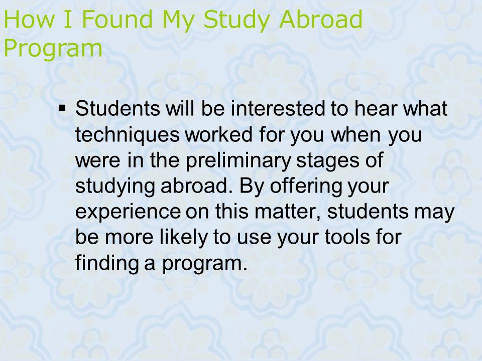 How I Found My Study Abroad Program