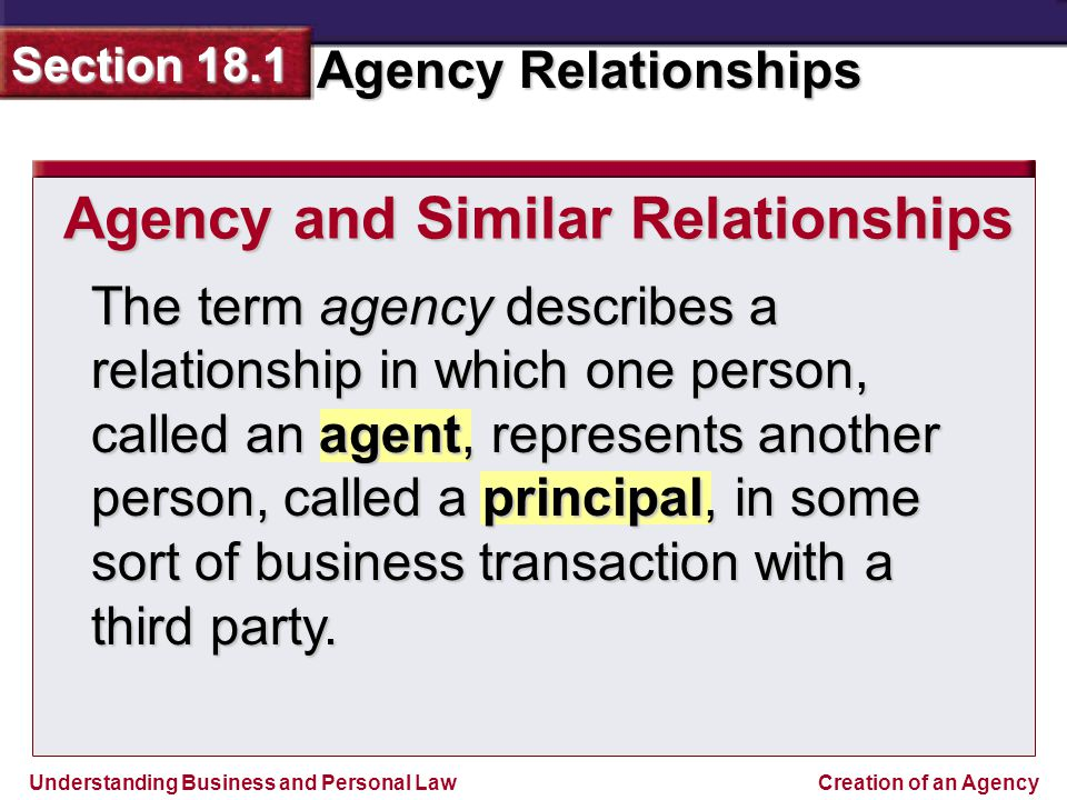 agency principal relationship law and ethics
