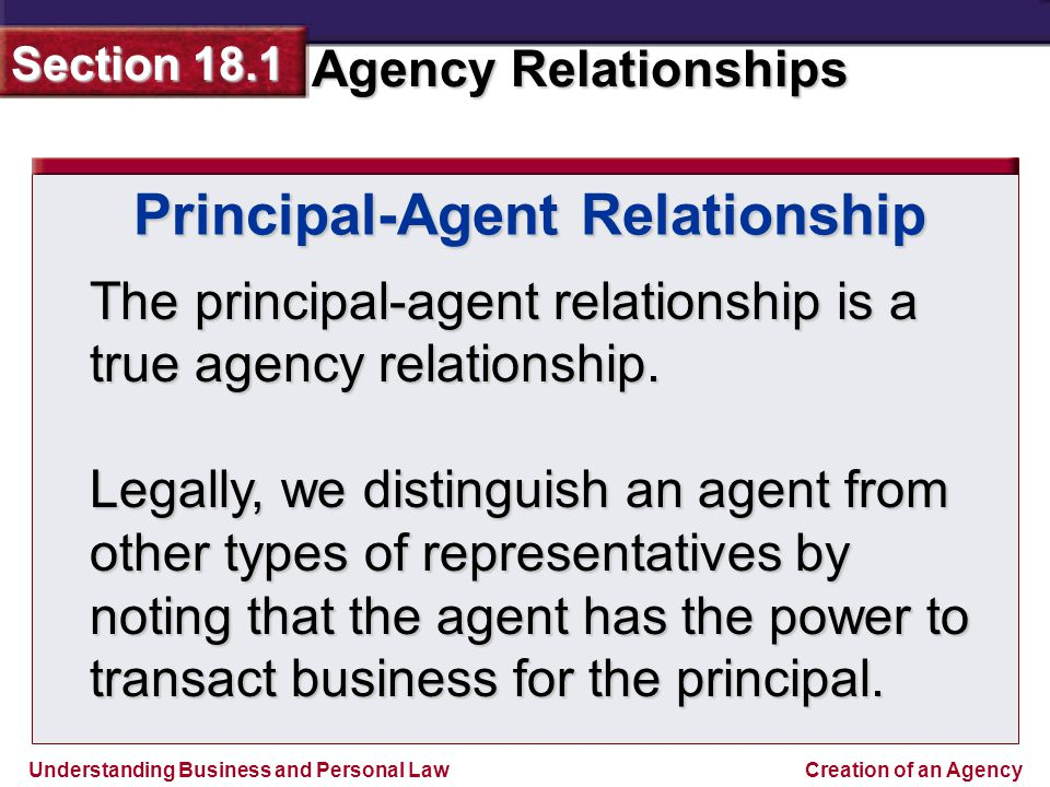 relationship of a broker and his principal