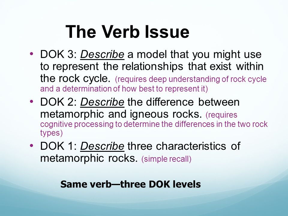 The Verb Issue