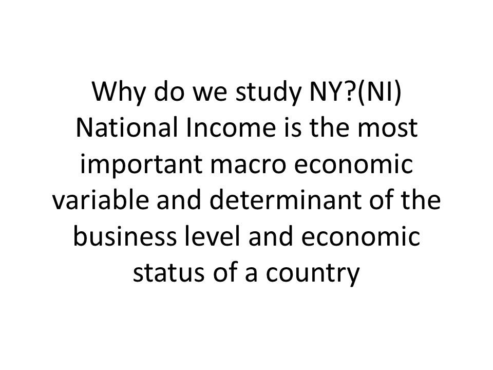 The Importance of National Income Accounting
