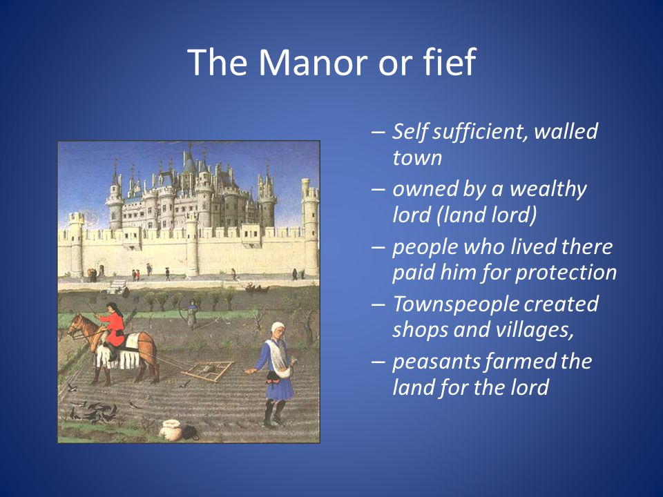 The Manor Or Fief Self Sufficient, Walled Town