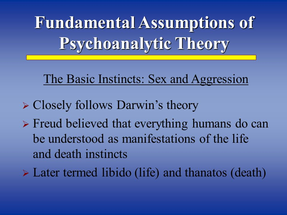 foundational assumptions of psychoanalytic family therapies essay Gestalt therapy was developed in the gestalt therapy from these therapies are some of the ideas disability ethics families family gestalt grief listening.
