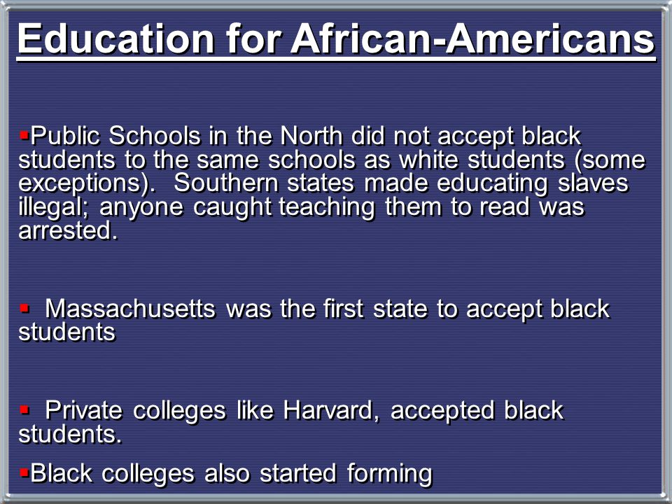 Education for African-Americans