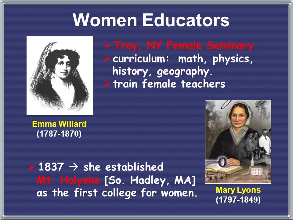 Women Educators Troy, NY Female Seminary