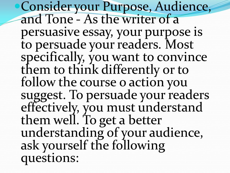 purpose of persuasive essays