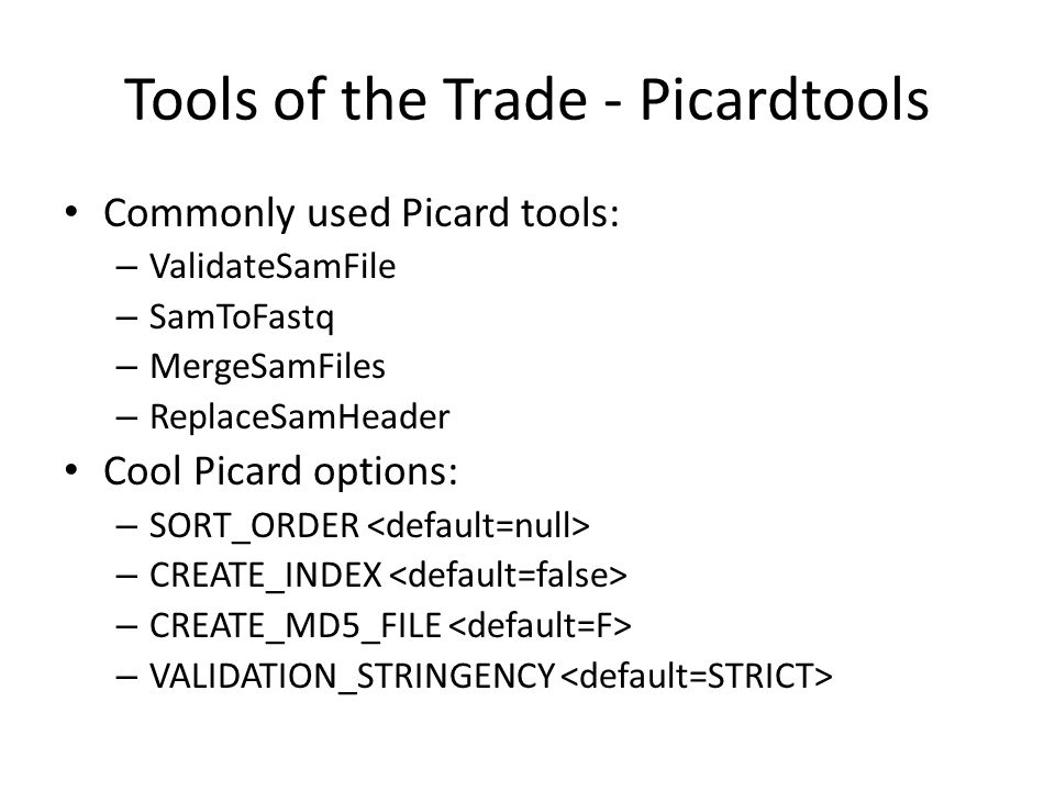 Tools of the Trade - Picardtools