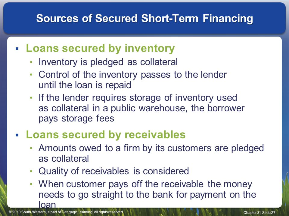 sources of short term finance essay Long-term and short-term financing - learn international finance concepts in   the common sources of financing are capital that is generated by the firm itself   commercial paper is an unsecured promissory note with a pre-noted maturity.