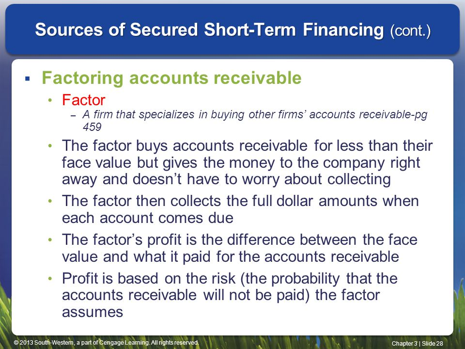 Sources of short term capital