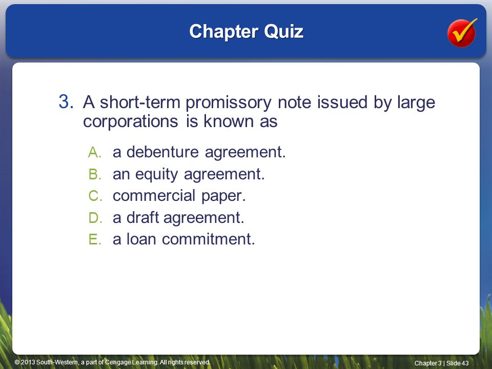 commercial paper is a short-term security issued by Term cash-like instruments, which is a very short-maturity treasury bill  one  prominent example of a riskier short-term instrument is commercial paper   security issued by corporations to obtain funds to meet short-term obligations.