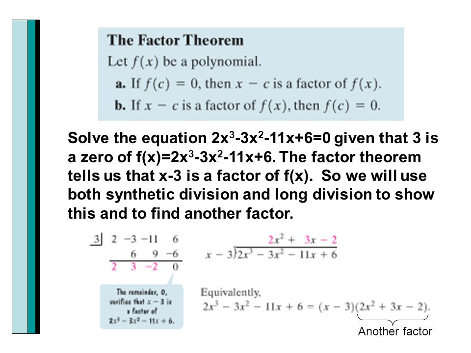 Section 33 dividing polynomials remainder and factor theorems 21 solve ccuart Images