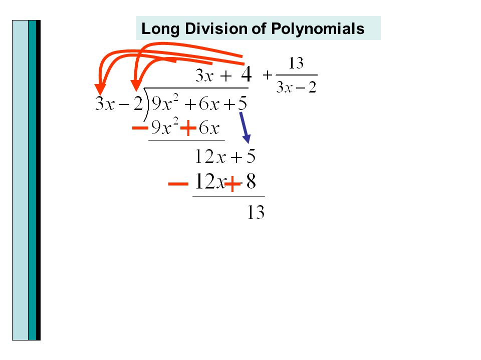 Section 33 dividing polynomials remainder and factor theorems 5 long division of polynomials ccuart Images