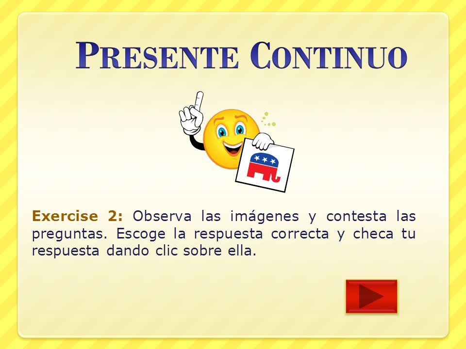 présente continuo en español