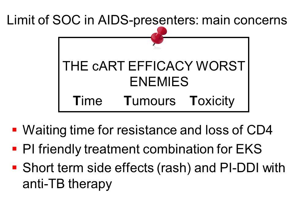 Limit of SOC in AIDS-presenters: main concerns