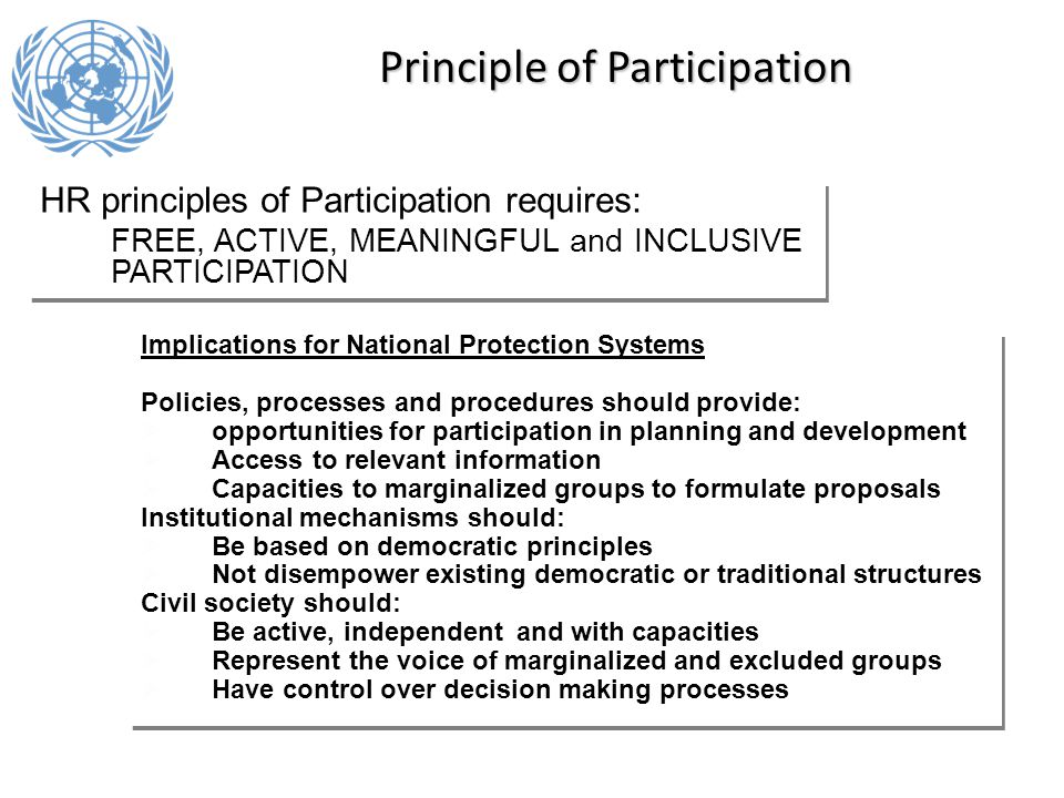 explain the principles of active participation Active participation 41 explain the principles of active participation 42 explain how the holistic needs of an individual can be addressed by active.