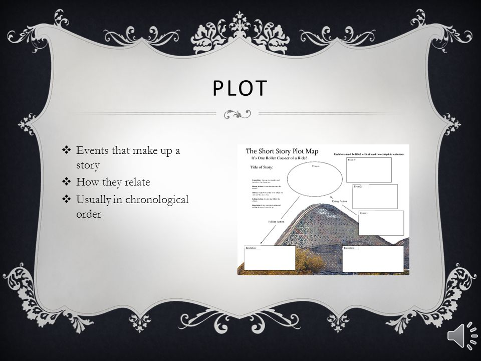 Plot Events that make up a story
