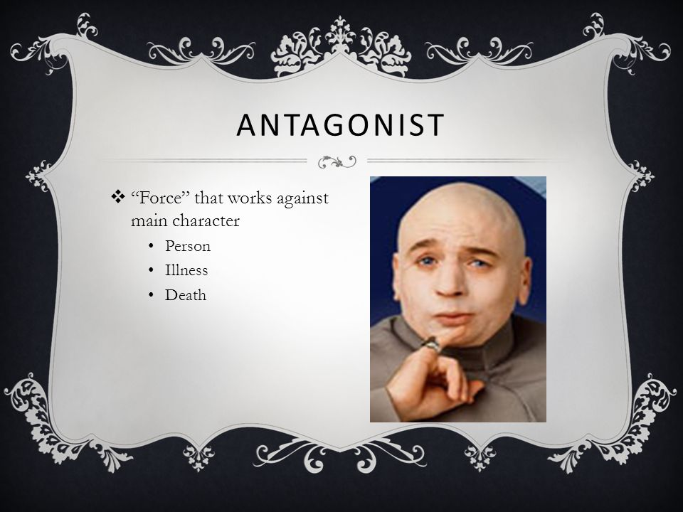 Antagonist Force that works against main character