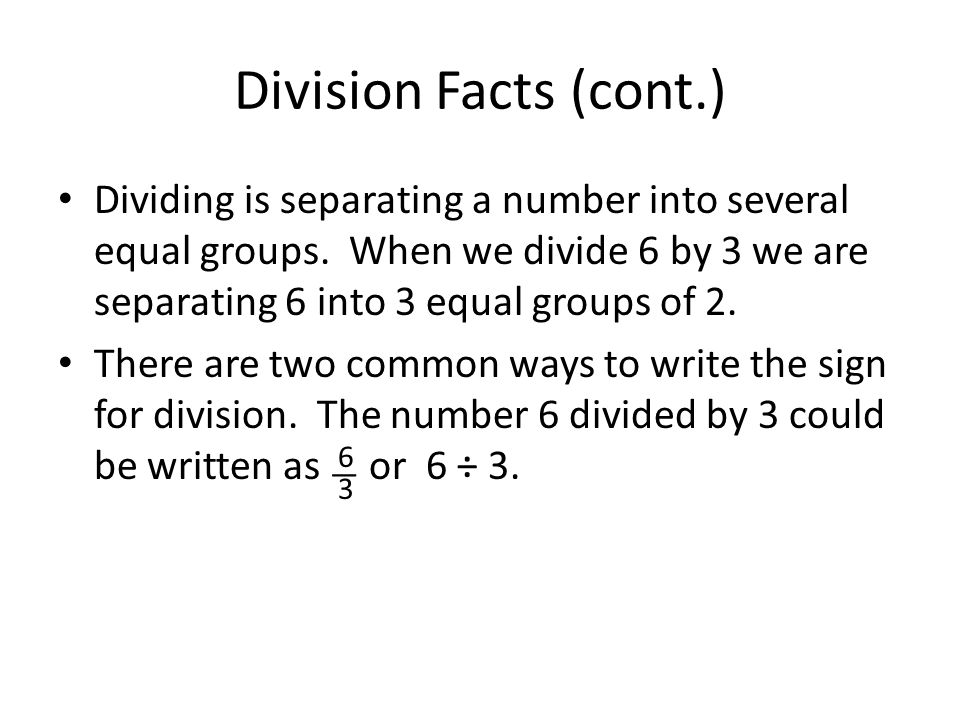 Two ways to write a division problem
