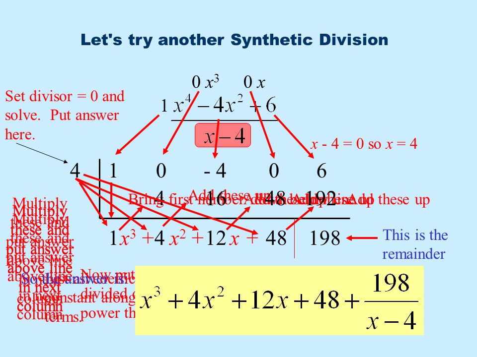 Let s try another Synthetic Division