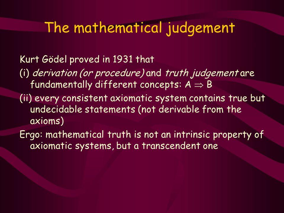 The mathematical judgement