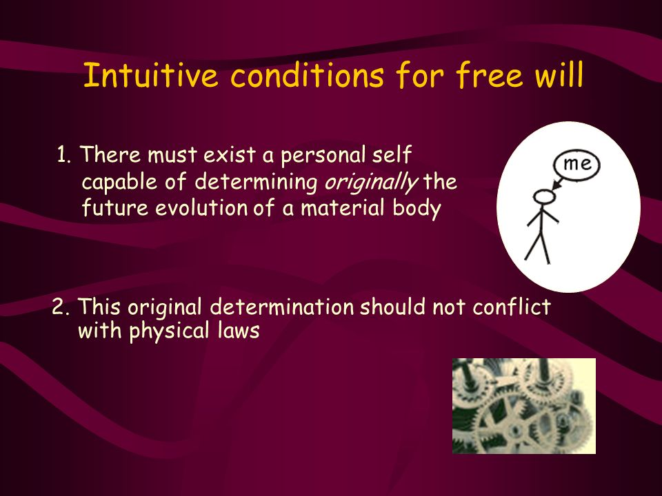 Intuitive conditions for free will