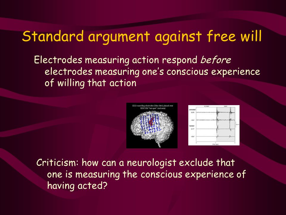 Standard argument against free will