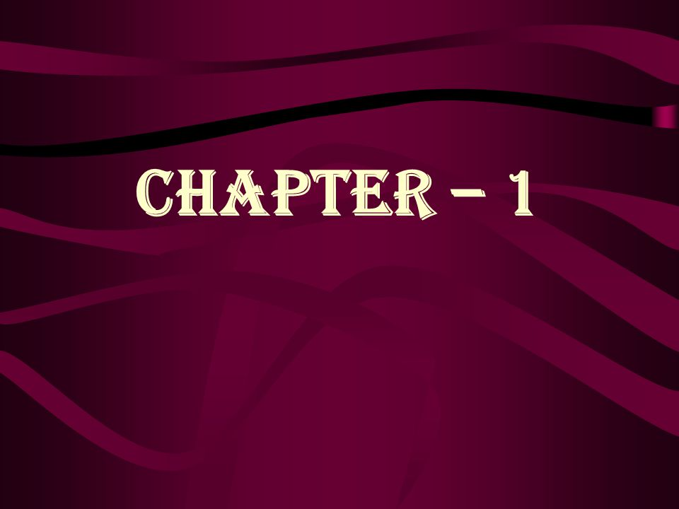 CHAPTER – 1