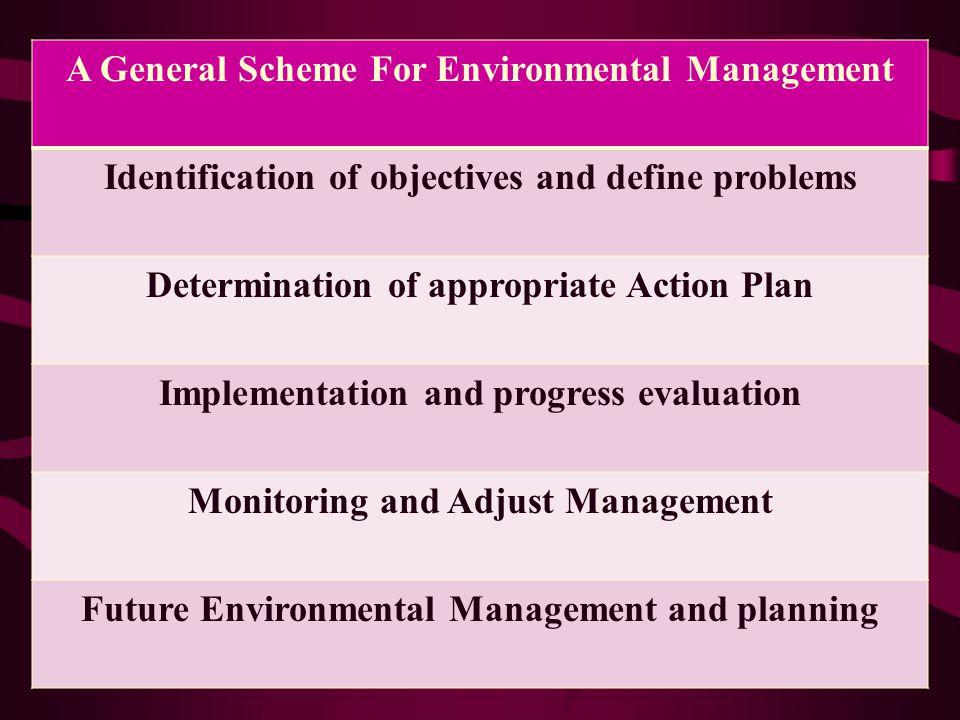 A General Scheme For Environmental Management