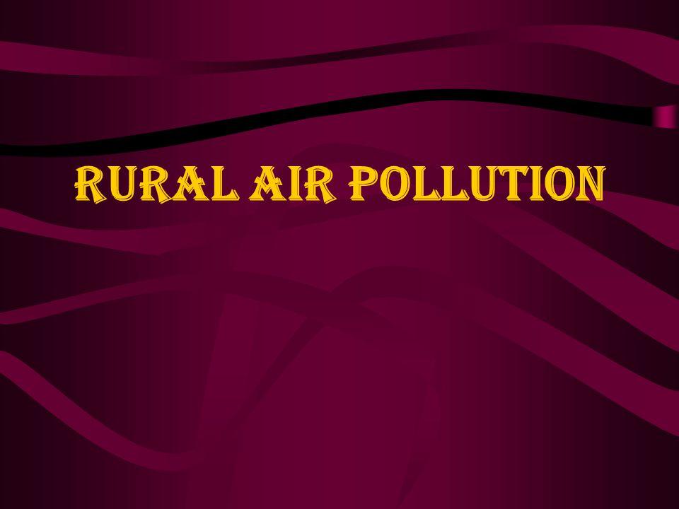 RURAL AIR POLLUTION