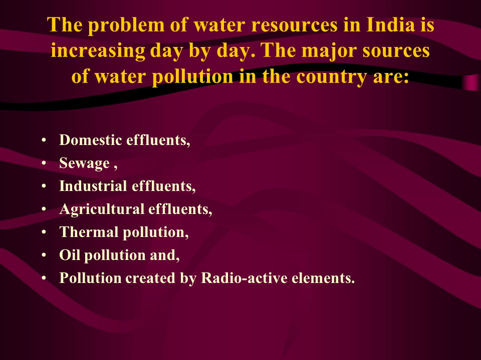 The problem of water resources in India is increasing day by day