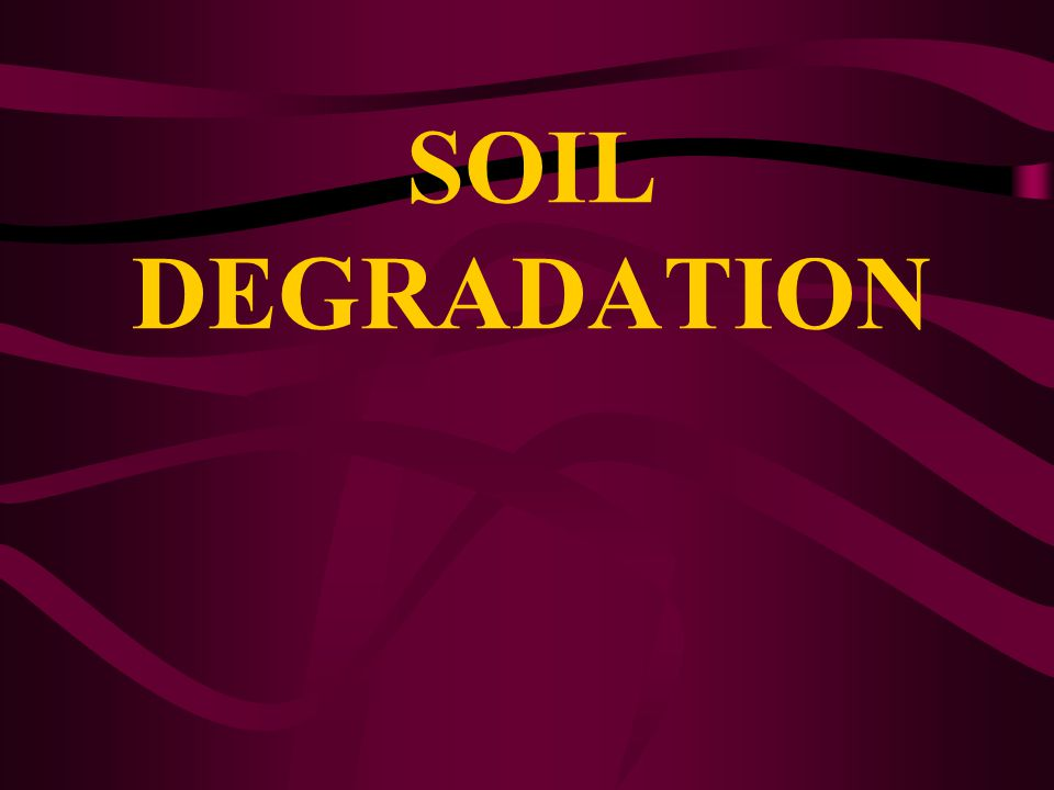 SOIL DEGRADATION